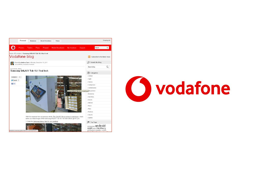 Vodafone blog redesign